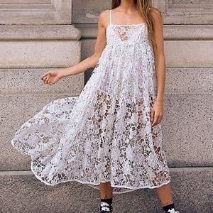 For Love & Lemons Sundae Tank Midi Dress